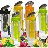 Steelo Fruit Infuser Plastic Water Bottle, 750 Ml(Multicolour)