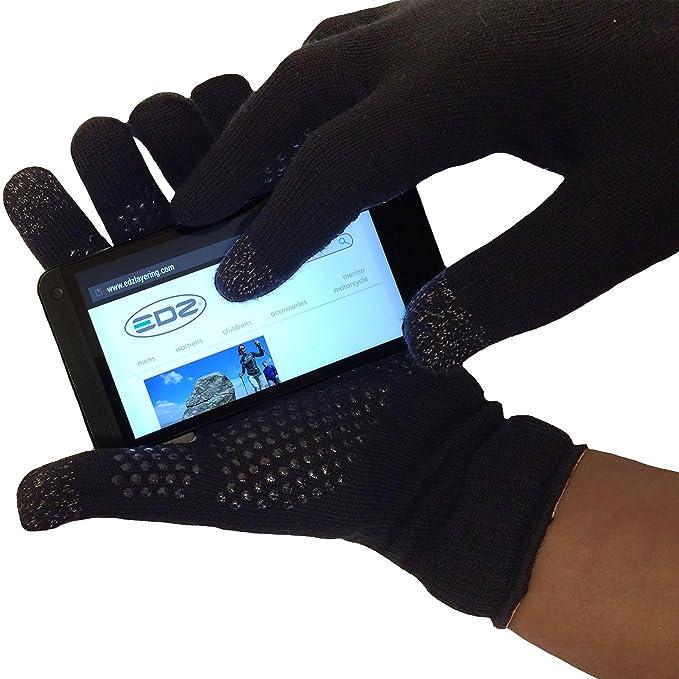 b91ce363457 EDZ Merino Wool Thermal Gloves Grip  touchscreen for cycling ...