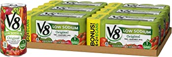 48-Pack V8 Original Low Sodium 100% Vegetable Juice