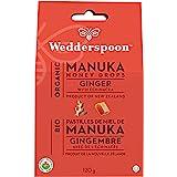 Wedderspoon Non-GMO Organic Manuka Honey Drops, Ginger, 20 Drops (120g)