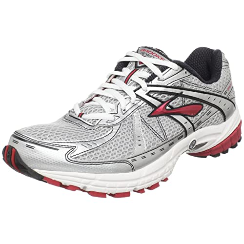 b403667c390 Brooks Men s M Defyance 4 White Silver Black Red Trainer 1100901D633 ...