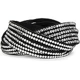 StyleBreaker 05040005 Bracelet manchette avec strass 6rangs