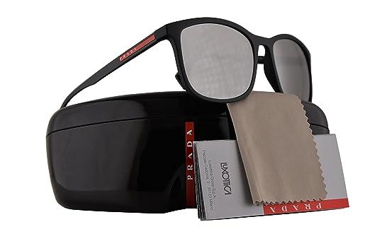 b01afd683274 ... ebay prada ps01ts sunglasses black rubber w light grey mirror silver  56mm lens dg02b0 sps01t ps