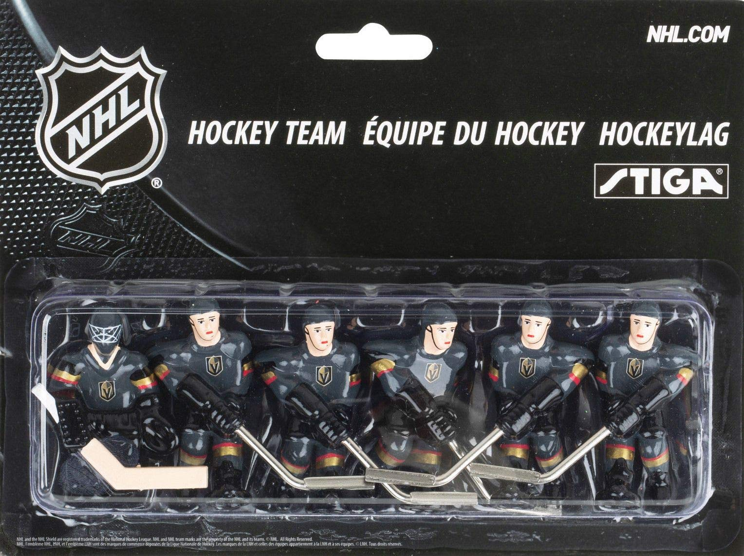 STIGA NHL Las Vegas Golden Knights Table Top Hockey Game Players Team Pack by STIGA