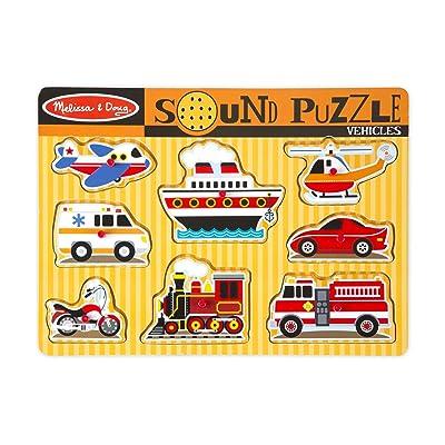 Melissa & Doug Sound Puzzle - Vehicles: Melissa & Doug, , 725: Toys & Games