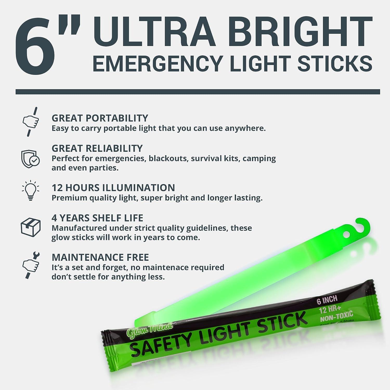 "Lot of 15 White 4/"" Light Sticks Emergency Hunting Fishing Camping Car Safety Kit"