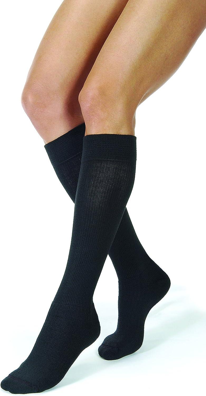 JOBST Activewear 20-30 mmHg Knee High Compression Socks, Medium, Cool Black
