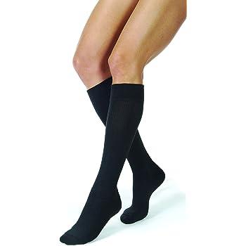 JOBST Activewear 15-20 mmHg Knee High Compression Socks, Medium, Cool Black