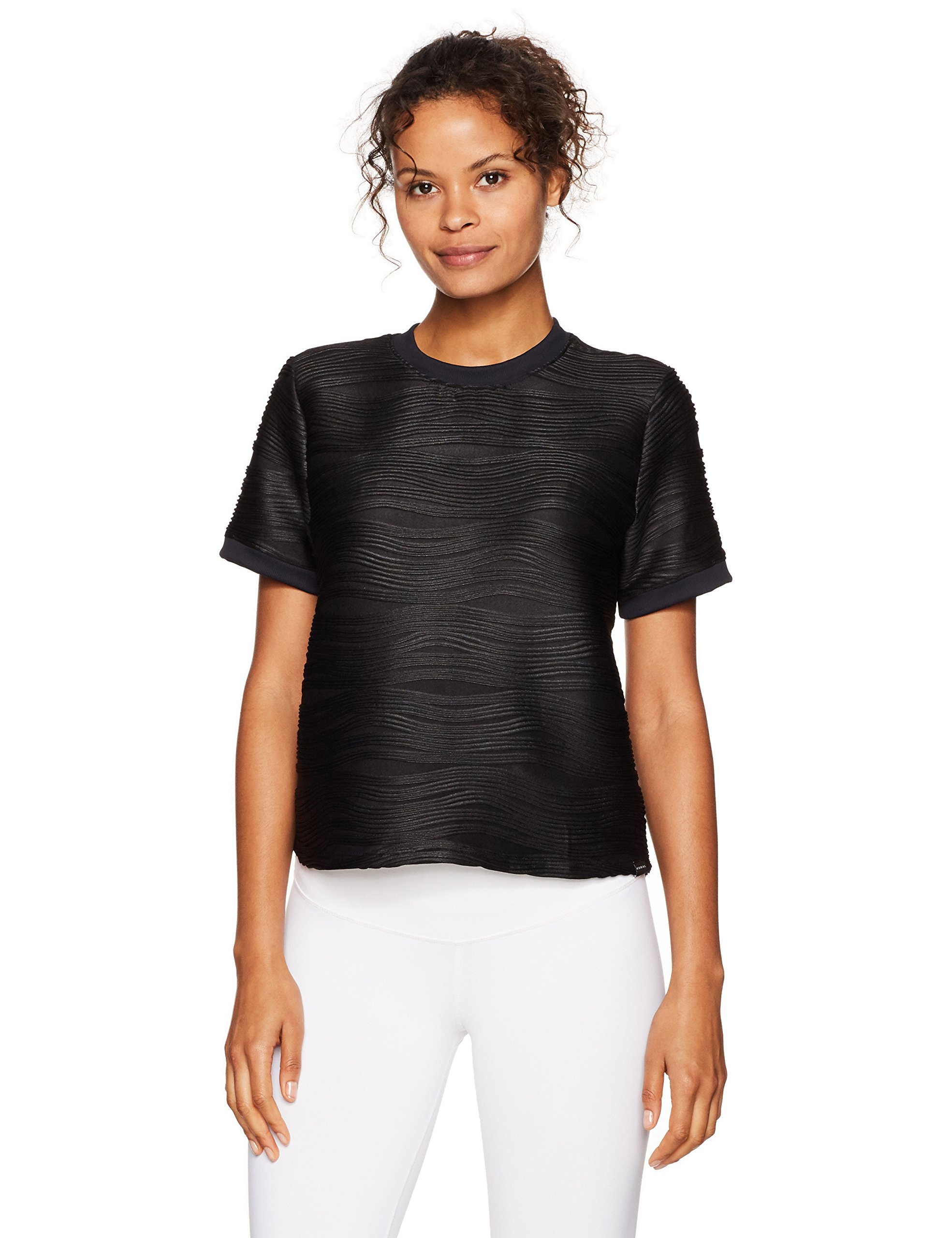 KORAL Women's Redeem Top, Black, S by Koral (Image #1)