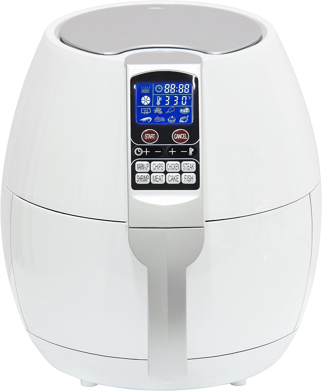 Oil-Less Healthy Cooker 1 Quart Sync Living Compact Electric Air Fryer Aqua Timer /& Temperature Controls