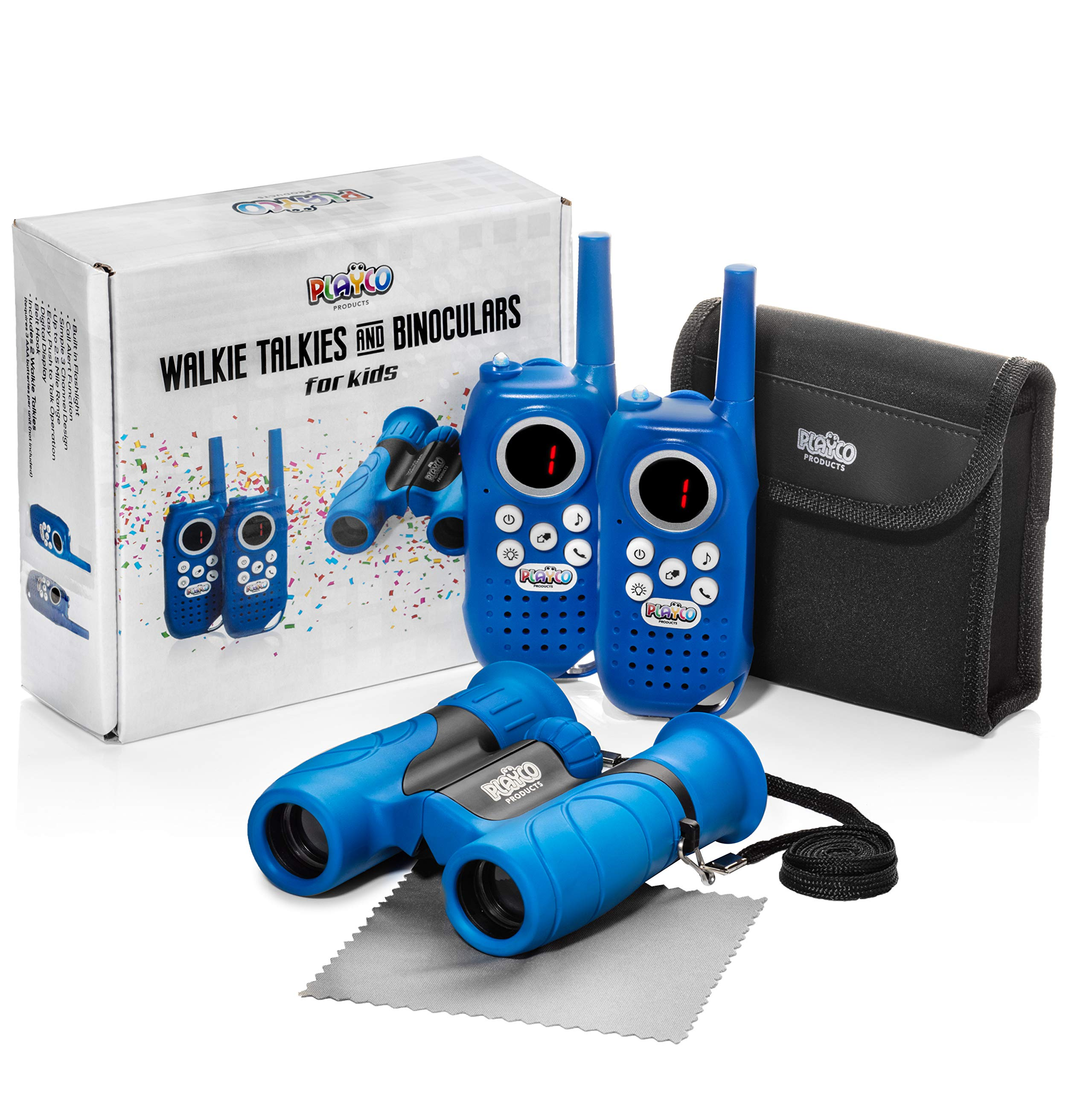 Playco Walkie Talkies and Binoculars for Kids - 2 Mile Range, Crystal Clear Sound, 8X21 Optical Lens by Playco (Image #7)