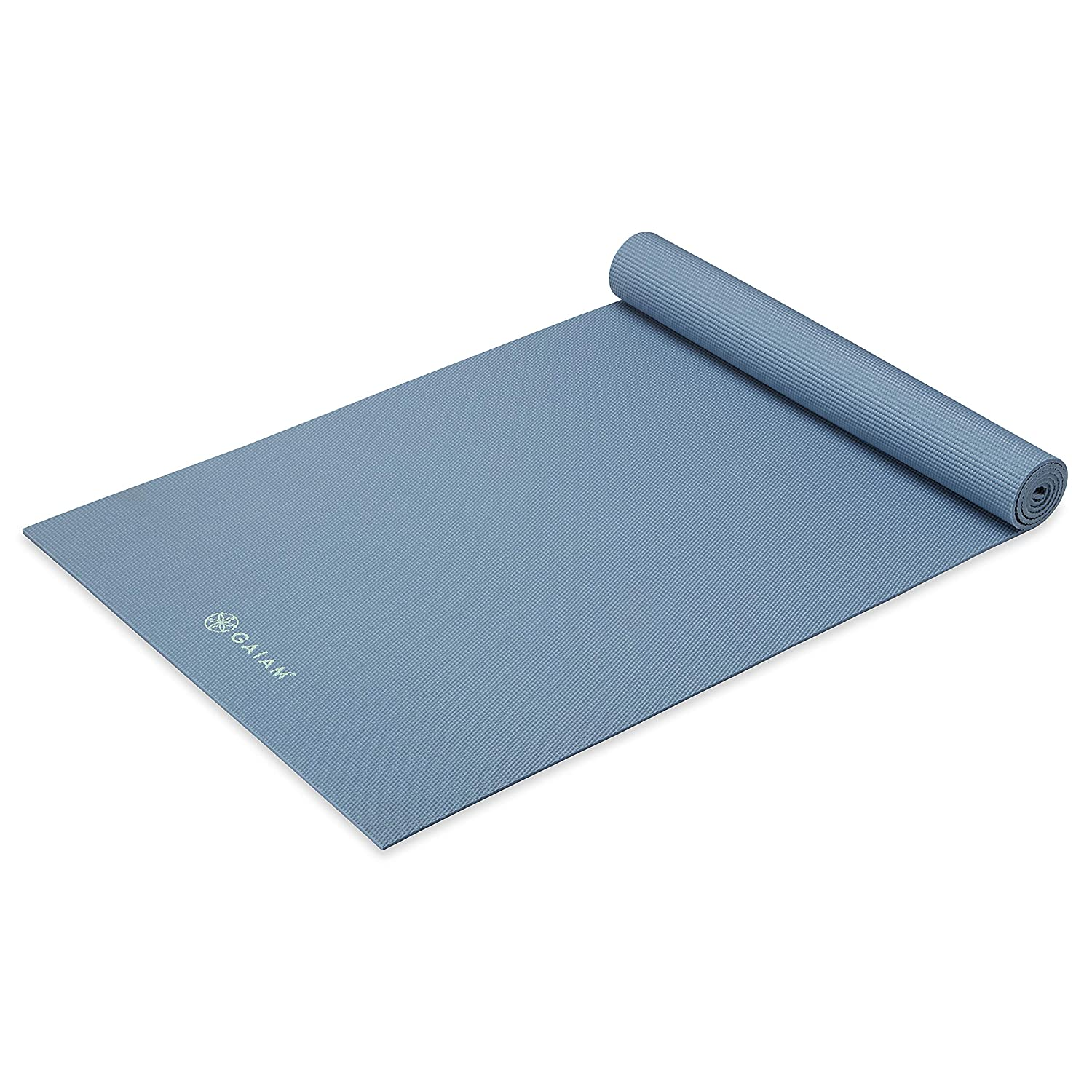 Gaiam Yoga Mat – Premium 5mm Thick Exercise Fitness Mat for All Types of Yoga, Pilates Floor Exercises 68 x 24 x 5mm
