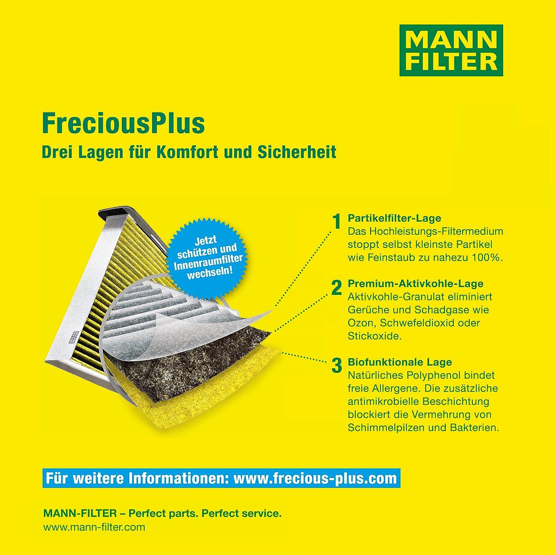 Originale MANN-FILTER Filtro Abitacolo FP 3337 Per Automobili Filtro Antipolline Biofunzionale FreciousPlus