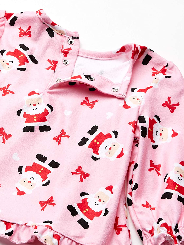 Little Me Baby Girls 2 Piece Brushed Holiday Coat Pajama Sleepwear