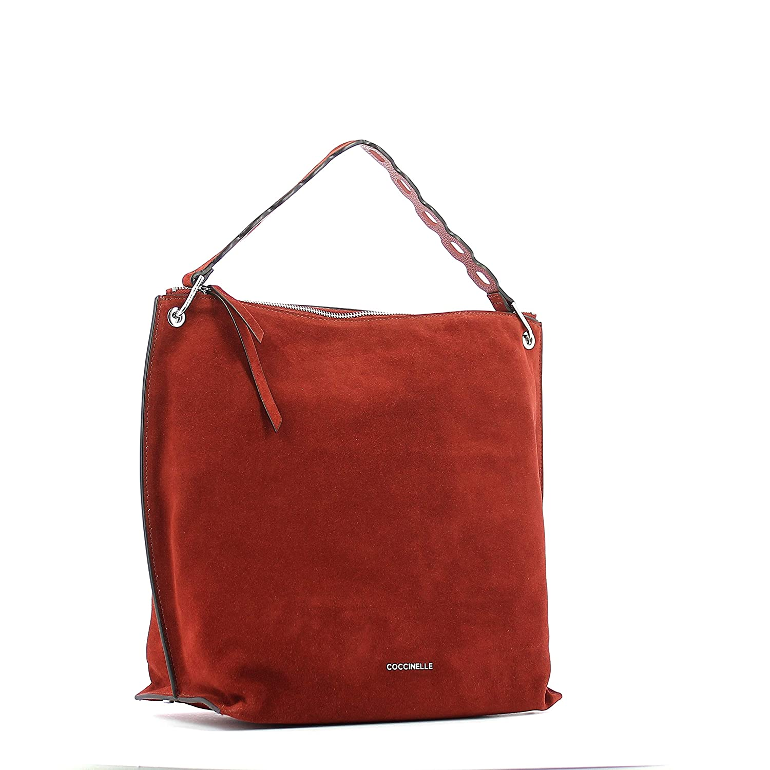 4a96f3f3e9af7 Coccinelle Naive Suede Beuteltasche rotbraun  Amazon.de  Koffer ...