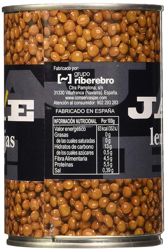 Lentejas Legumbre Cocida - Paquete de 6 x 250 gr: Amazon.es ...