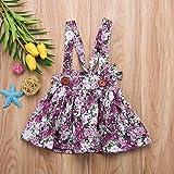 ForShop Fashon Sweet Newborn s Baby Girls Suspender Summer Floral Princess Bib Strap Cotton A-line Tutu Skirts