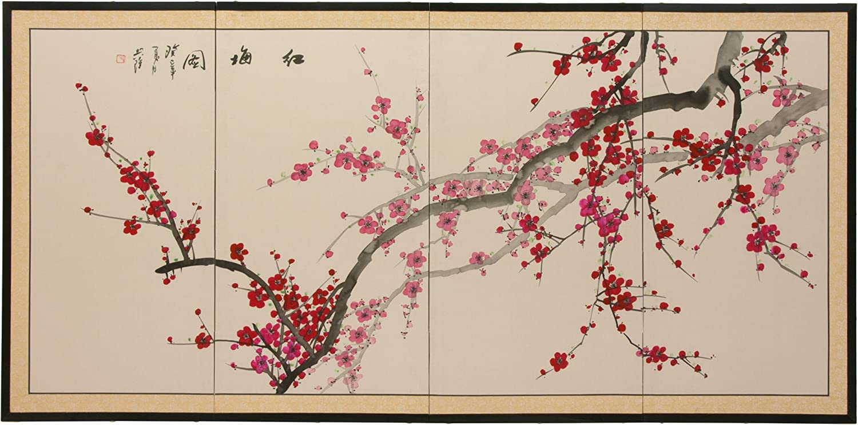 "Oriental Furniture Plum Blossom - 36"""