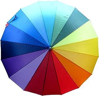 Doppler, Ombrello classico multicolore Arcobaleno Diameter Open 131cm Length Closed 103cm