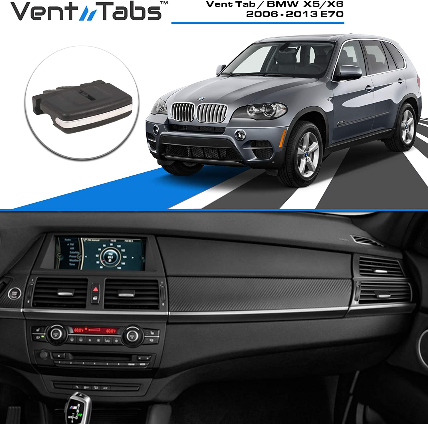 Single Vent Tab Injection Moulded Replacement Fits BMW 3 Series E90//E91//E92//E93