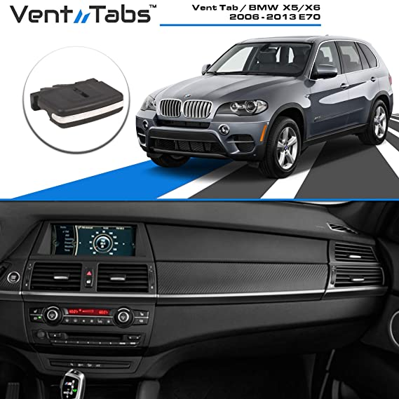 Venttabs for BMW X5 / X6 (2006-2013) E70 Air Conditioning Vent Replacement  Tab | 30-Second Installation | Easy Clip on | No Screws or Tools Required |