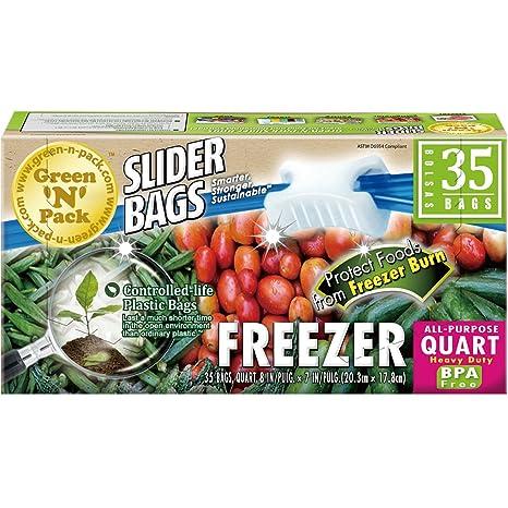 Amazon.com: Verde N paquete cierre comida bolsas de ...