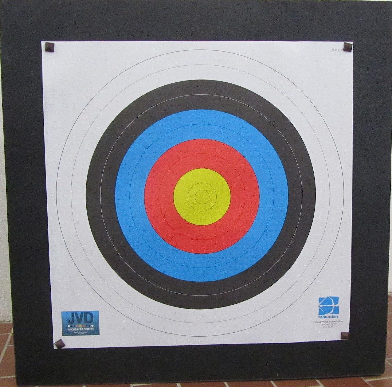 80 x 80 x 17 cm mit Wechselmitte Plus Auflage und Scheibenn/ägeln Franks-Castle Zielscheibe Polifoam bis 70 lbs