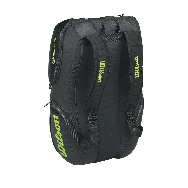 Wilson Blade Collection Racket Bag 15 Pack Black//Green