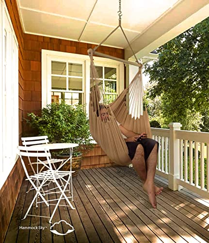 XXL Hammock Chair Swing by Hammock Sky - for Patio, Porch, Bedroom, Backyard, Indoor or Outdoor