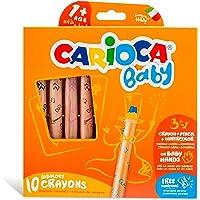 Carioca CAR-42818 3-in-1 babykleurpotloden, 10-delig