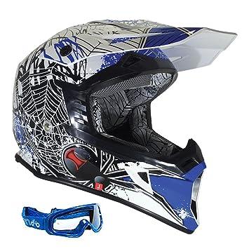 RSX95 - Cascos de Moto tipo Viper RSX95Widow MX para Enduro, Motocross,
