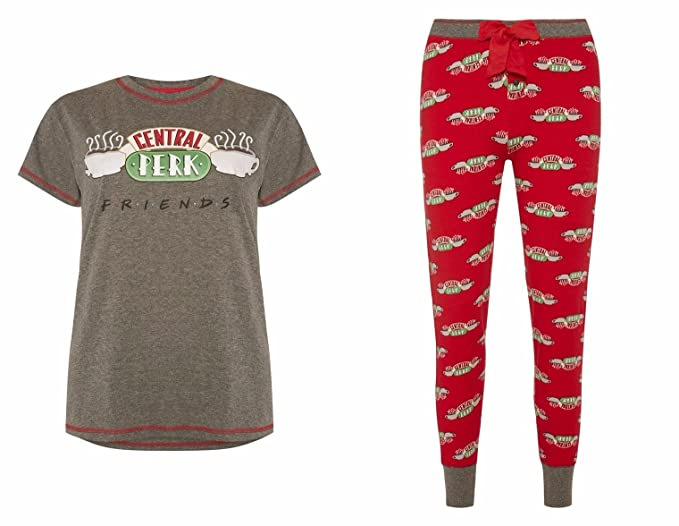 Señoras Niñas Pijama Friends Central Perk gris Central Perk M