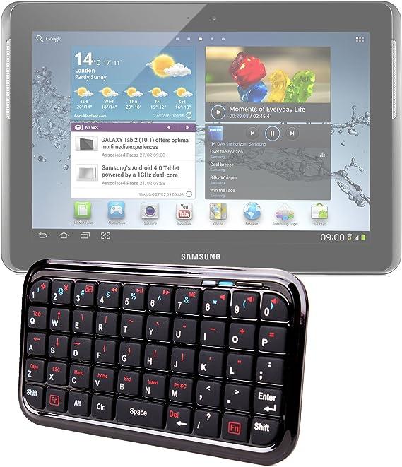 Mini teclado inalámbrico Bluetooth para tablet (Samsung Galaxy Note 10,1 N8000, N8010, N8013, Note 8,0 GT-) (N5100 y GT-N5110 y Samsung ATIV Tab,) ...