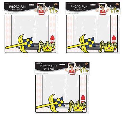 Amazon.com: Beistle 54815 Playing Card Photo Fun Frames 3 Piece ...
