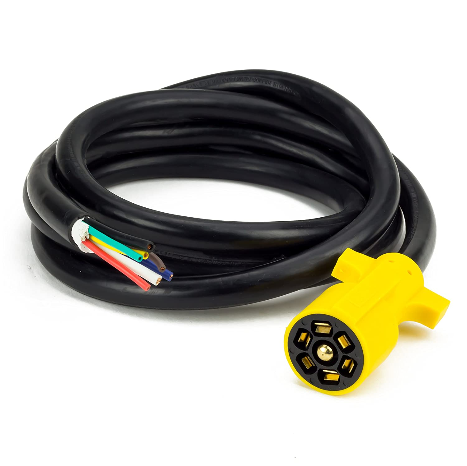 Proline Power 7 Way Plug Inline Trailer Wiring Harness 3 Prong Diagram In Addition 4 Wire To Cord Camper Truck Weatherproof And Corrosion Resistant Feet Length