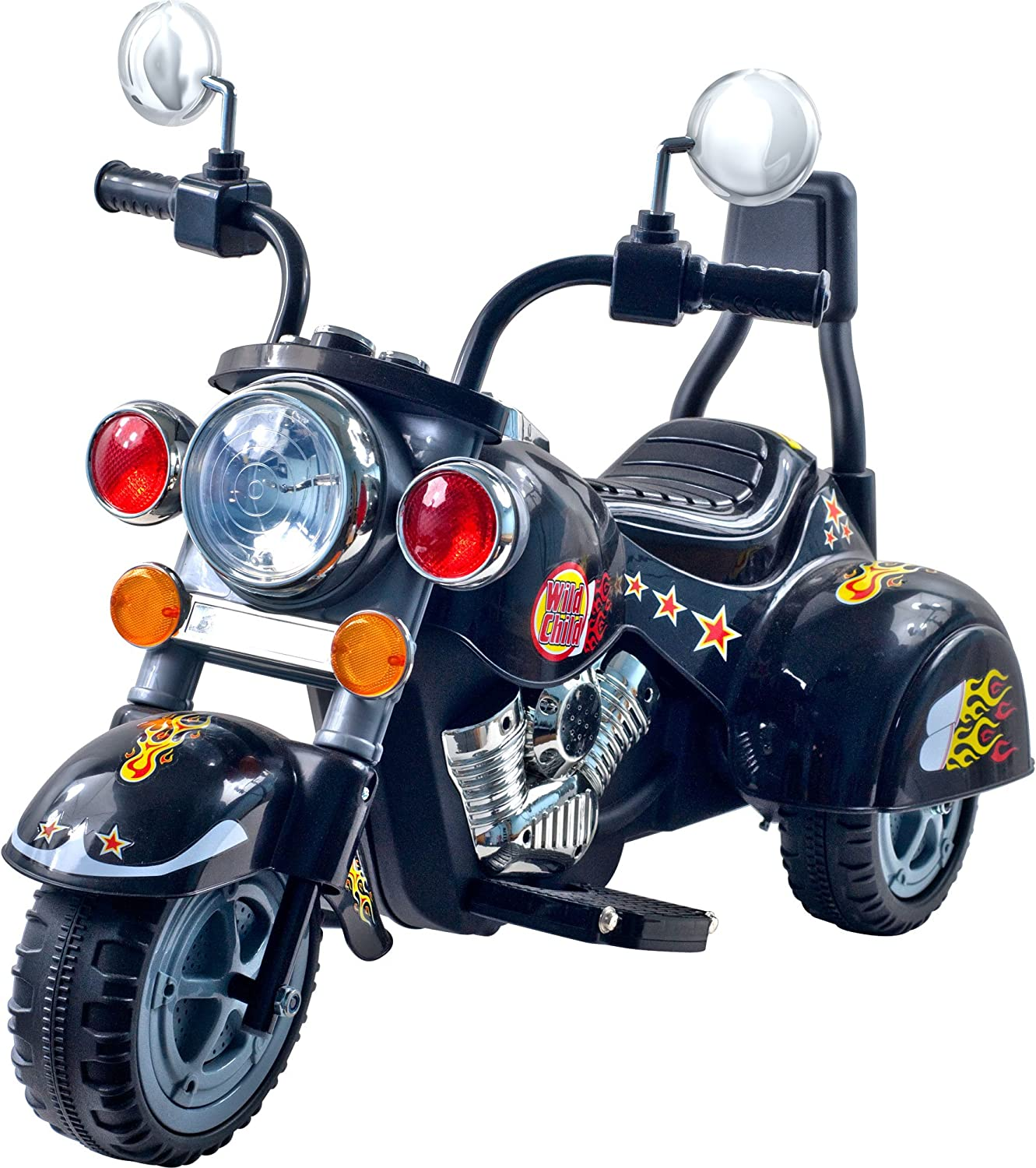 Amazon Com 3 Wheel Chopper Trike Motorcycle For Kids Battery Powered Ride On Toy By Lil Rider Ride On Toys For Boys And Girls Toddler And Up Black Toys Games