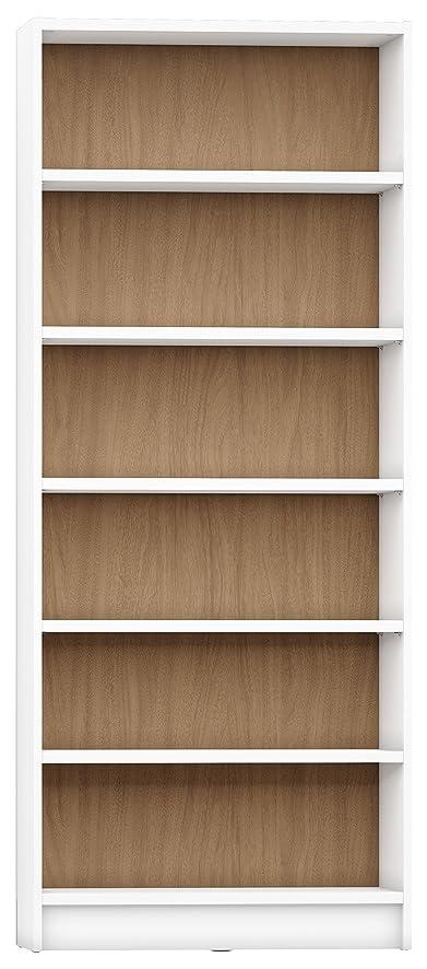 Manhattan Comfort Greenwich Trente Open Bookcase 1.0 Collection Modern Free  Standing 6 Shelf Bookcase, 33u0026quot