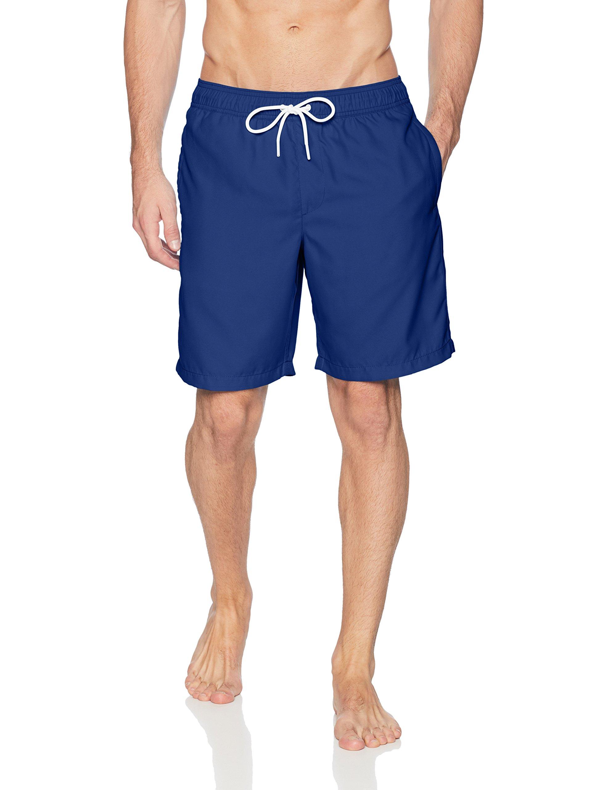 Amazon Essentials Men's Quick-Dry 9'' Swim Trunk, Navy, Large