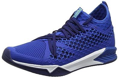 differently 6b8a4 1ba48 Puma Ignite XT Netfit, Chaussures de Fitness Homme, Bleu (Lapis Blue-White