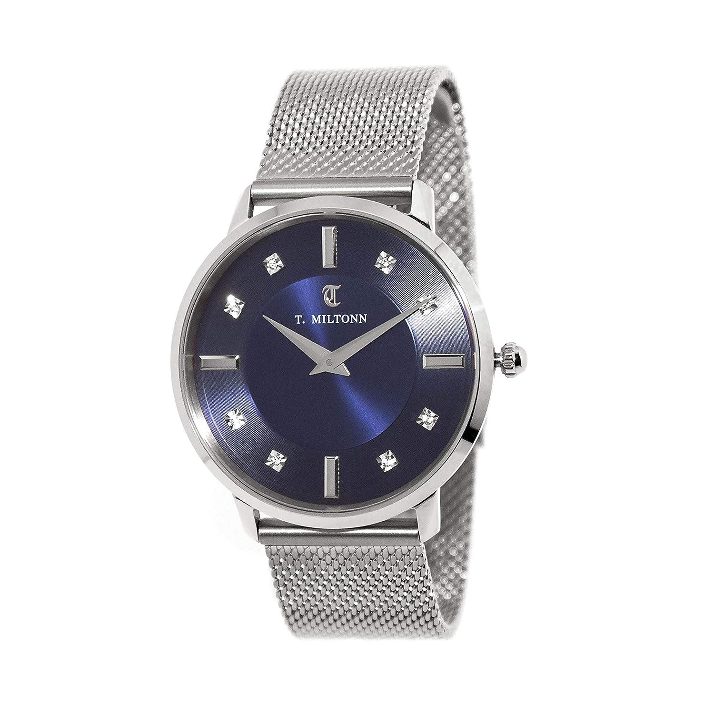 Reloj Extra-Plate Mujer Reloj 10 con Diamantes, Pulsera Malla ...