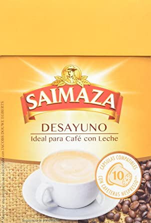 Saimaza Café Espresso Desayuno. 80 Cápsulas de aluminio ...