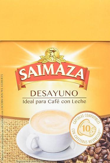 Saimaza Café Espresso Desayuno. 80 Cápsulas de aluminio compatibles con cafeteras Nespresso®* -