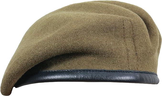 Genuine British Made Military Khaki Green General SD Issue Beret Cap  57cm 58cm