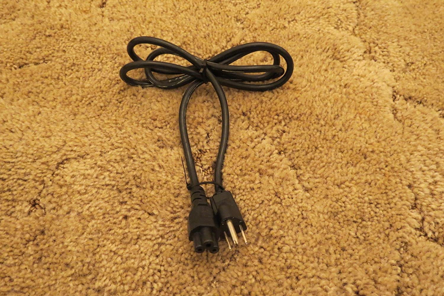 Three-Round-Pin Cord 3-Prong AC Plug Cable for Laptop Power Supply Wall Adapter