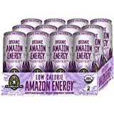 Sambazon Amazon Energy Drink, Low-Calorie Acai Berry Pomegranate, 12 Ounce (Pack of 12)