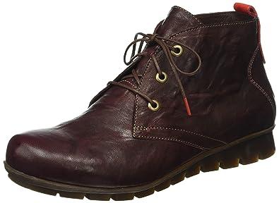 Think Damen Menscha Desert Boots, Rot (Chianti/Kombi 35), 42 EU