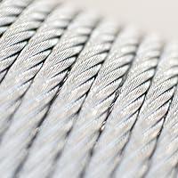 20m câble 8mm acier zingué EN 12385-4 6x19+FC