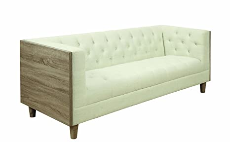 Coaster Home Furnishings 506481 Living Room Sofa, Cream/Weathered Taupe