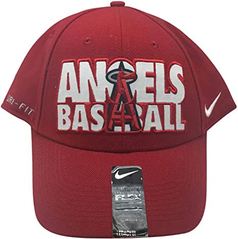736d811887161 Image Unavailable. Image not available for. Color  Nike MLB Los Angeles  Angels Dri Fit One Fit Flex Hat ...