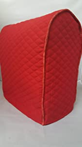 Lift Head Kitchenaid Stand Mixer Cover / Quilted Double Faced Cotton - Red, with contrasting trim
